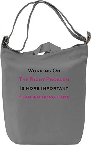 Work Right Borsa Giornaliera Canvas Canvas Day Bag| 100% Premium Cotton Canvas| DTG Printing|