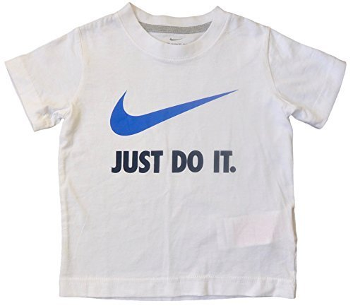 Nike Toddler Boys White Short Sleeve T- Shirt Just Do It White 2T
