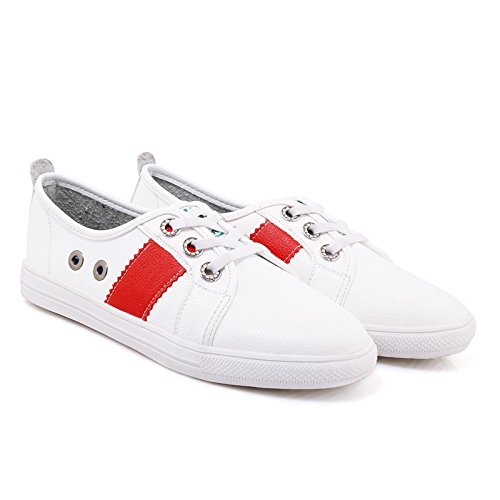 Up Show Lace Leisure Shoes Shine Skateboarding Womens Shine Show Red Womens nPxq0wBrP