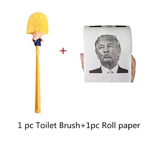 - Best Quality - Cleaning Brushes - Toilet Brush Holders WC Borstel Donald Trump Roll Paper Trump Toilet Brush Make Toilet Great Again Commander In Crap Dropship - by LA Moon's - 1 PCs