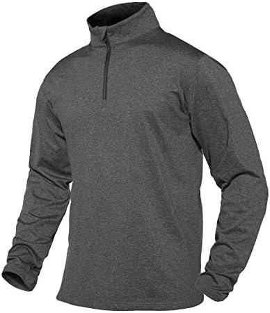1/4ジップ メンズ Tシャツ 長袖 スポーツウェア UVカット スウェットシャツ ハーフジップ トレーニングウェア パーカー ウォームドライ プルオーバー ストレッチ素材