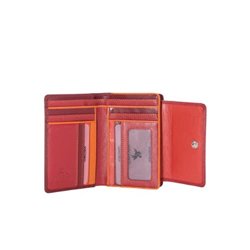 Visconti RB98 Multi Colored Soft Leather Ladies / Girls Compact Bifold Wallet & Purse