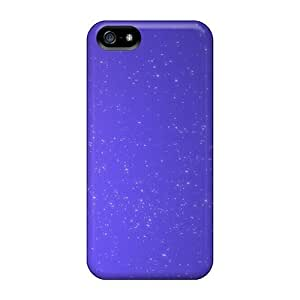 High Quality LatonyaSBlack Voilet Abstract Stars Skin Case Cover Specially Designed For Iphone - 5/5s