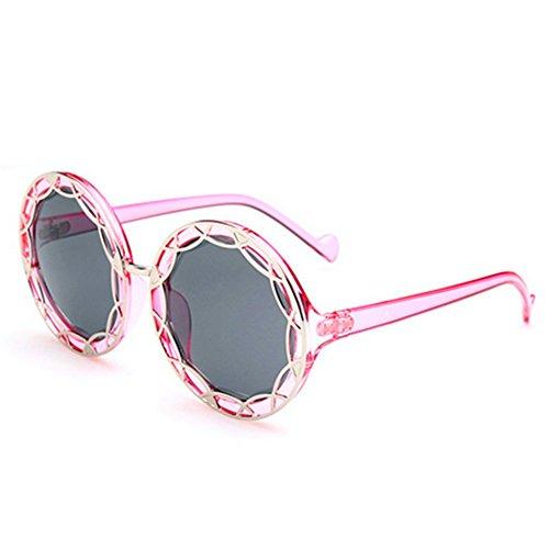 MosierBizne Hollow Metal Sunglasses Fashion Big Round Frame Sunglasses Ms Repair - Who Bifocals Invented