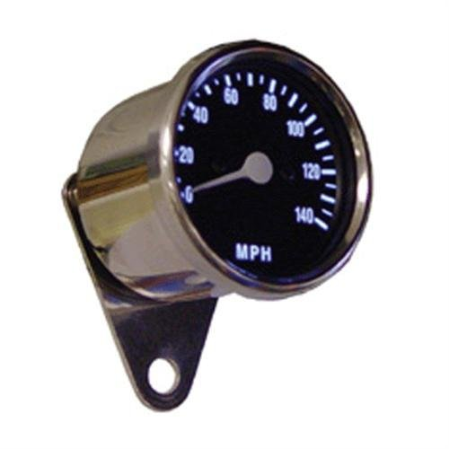 Black Face Iluminated Electronic Speedometer w/ Chrome Bracket for Harley (0105-4736)