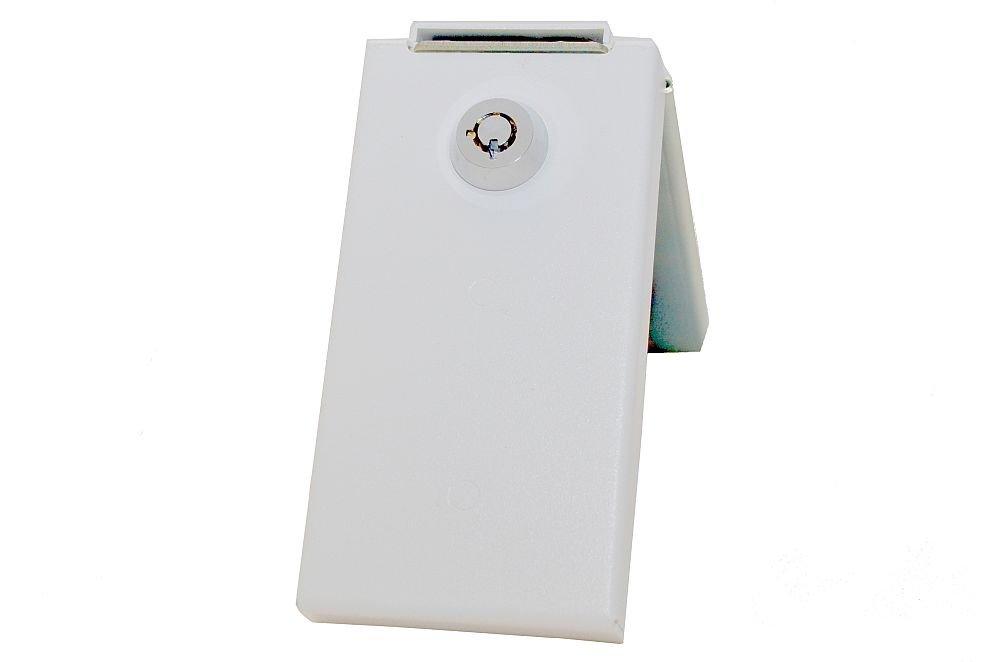 Refrigerator Lock, White, Keyed