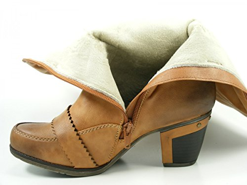 Rieker 97651-20 - Botas Mujer Marrón - Braun (bisquit/kastanie / 20)