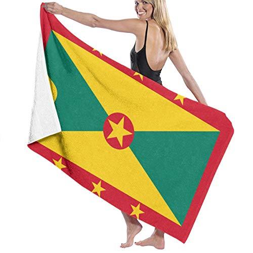Xiangxin Olp Flag of Grenada Beach Towel Outdoor Travel Rack Swim Micro Fiber Blanket Thin Yoga Mat Cactus Sand Free Lightweight Thin Towel