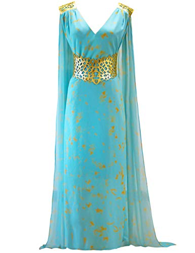 Angelaicos Womens Long Printing Dress V Neck