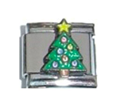 - Stylysh Charms Tree Star Christmas Enamel Italian 9mm Link NC060
