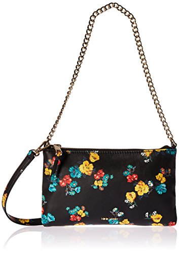 - Nine West Pouchette Crossbody with Chain, Black/Multi