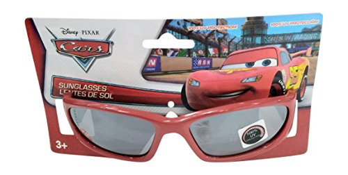 Disney Cars Red Racer Sunglasses - 100% UVA & UVB Protection -