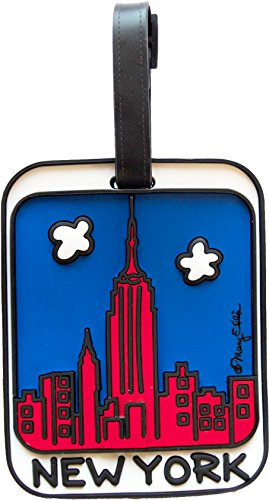 New York Luggage Tag 3-D NY Skyline Large Heavy Duty Bag ID - Stores Fifth Nyc Avenue