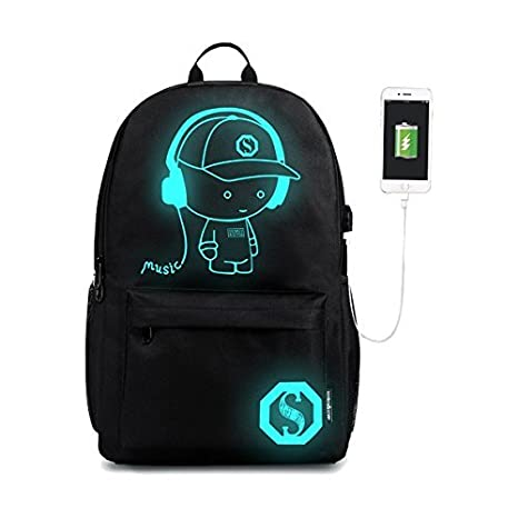 5f3b2708178f Image Unavailable. Image not available for. Color  Luminous Anti Theft  Laptop Backpack with USB Charging Port ...