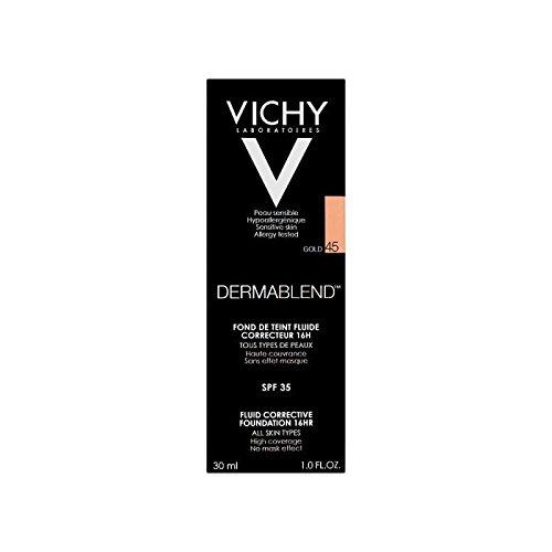 Vichy Dermablend Corrective Fluid Foundation 30ml Gold 45 (Pack of 6) - ヴィシー是正流体の基礎30ミリリットル金45 x6 [並行輸入品] B071RMM9GC