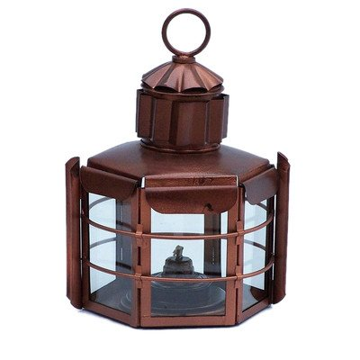 Clipper Oil Lamp Size: 15″ H x 9″ W x 8.5″ D, Finish: Antique Copper