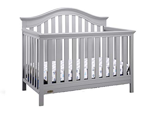 Graco Bryson 4-in-1 Convertible Crib, Pebble Gray, Easily Converts to Toddler Bed Day Bed or Full Bed, Three Position Adjustable Height Mattress, Some Assembly Required (Mattress Not - Kids Crib Piece 4 California