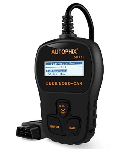 [Autophix OM121 OBD2 Code Scanner Automotive Vehicle Diagnostic Tool CAN Check Car Engine Lights Black (OM121-Black)] (Engine Light Car)