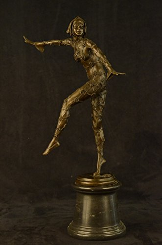 ...Handmade...European Bronze Sculpture Art Nouveau Star Fish Dancer By Chiparus (XN-2187) Bronze Sculpture Statues Figurine Nude Office & Home Décor Collectibles Sale Deal Gifts
