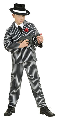 Costume Italian Mob (Children's Gangster Child 158cm Costume For 20s 30s Mob Capone Bugsy Fancy)