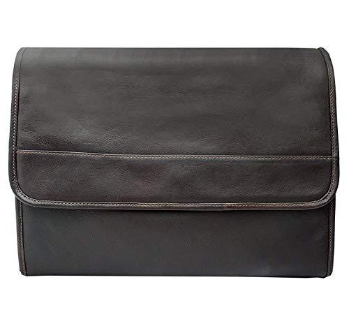 Piel Custom Personalized Leather Entrepeneur Envelope Portfolio in Chocolate