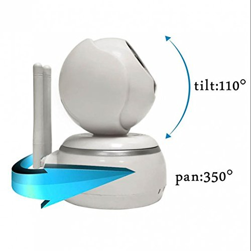 HD Nachtsicht ip kamera Alarmanlagen Schwenkbare Ir Monitor Einfache Netzwerkverbindung ,Remote-Wiedergabe ,Babyfon - WLAN mit WLAN/Audio/App/SD Karte/Cloud Weitwinkel Objektiv 1 MP
