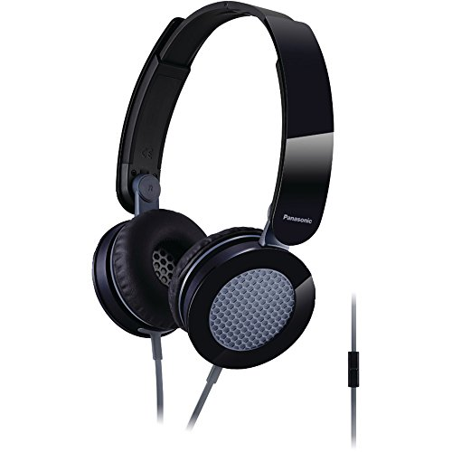 PANASONIC RP-HXS200M-K Sound Rush(TM) On-Ear Headphones with Microphone (Black) electronic consumer -