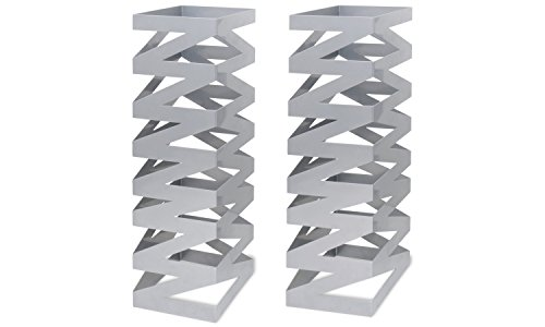 Front of the House BRI007BCI28 Zig Zag Tall Riser, 22.5'' Height, 7'' Width, 7'' Length, Stainless Steel, (Pack of 2) by Front of the House