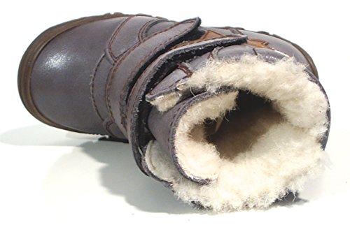 FRODDO Leder TEX Unisex Stiefel Schafwolle gefüttert grau