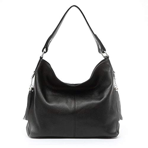 Louis Vuitton Zippy Organizer - 2018 Fashion Soft Real Genuine Leather Tassel Women Handbag,Black,China