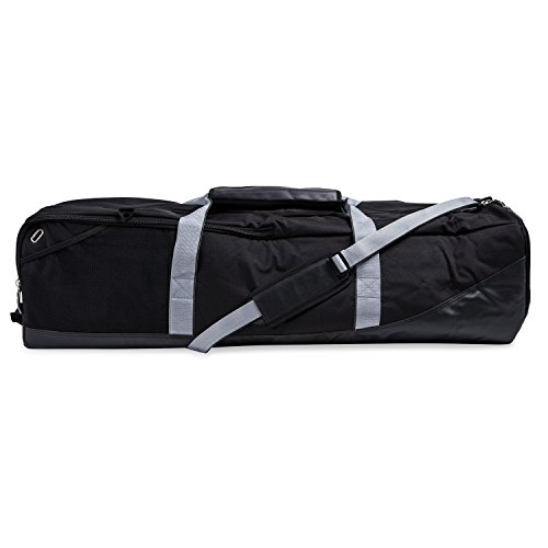 Champion Sports Lacrosse Equipment Bag: Duffel Sports Bag for Mens & Womens, Girls & Boys Gear - Black