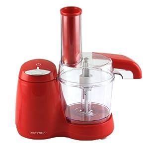 Küchenmaschine Küchengerät 0,5 Liter Behälter Edelstahlmesser 100W Emerio FP-105839.1