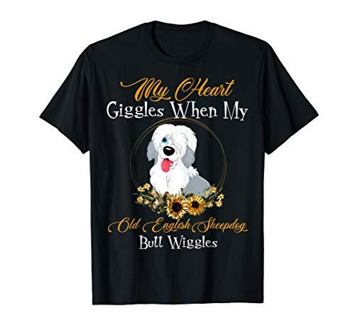 Old English Sheepdog My Heart Giggles TShirt Dog Mother's