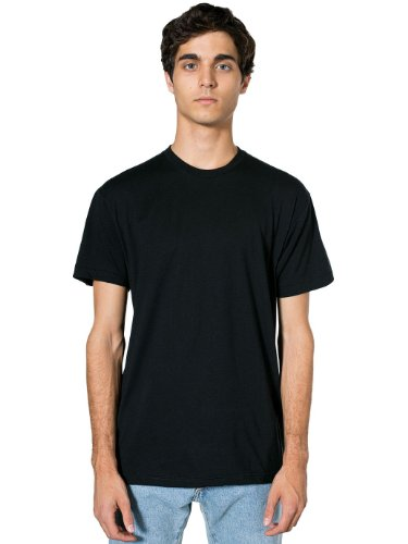 American Apparel Men\'s Poly-Cotton Short Sleeve Crew Neck