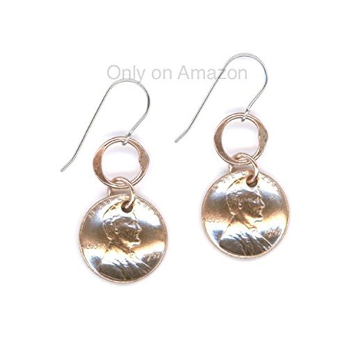 Amazon 10th Birthday Gift Ideas For Her Anniversary Gifts Jewelry Penny Earrings Coins 2008 Copper Dangle Metal Unique Women