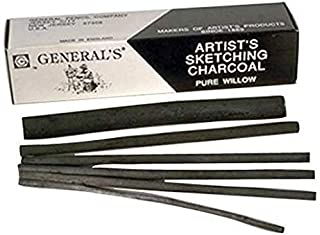 product image for General Pencil - Artist's Sketching Charcoal - Medium, 25/Box