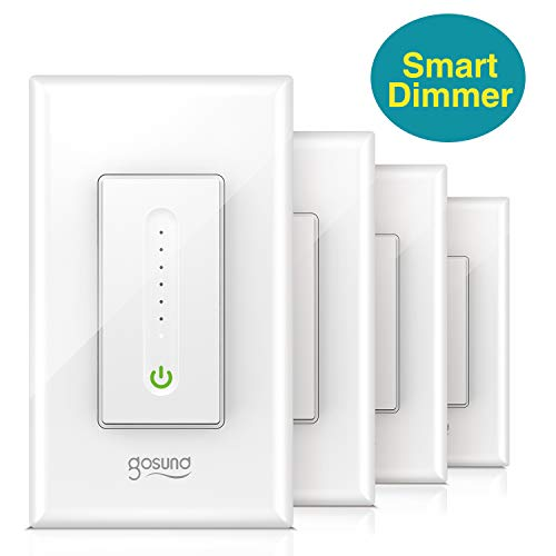 Gosund Smart Dimmer Switch, Wifi Smart Light Switch Works with Alexa and Google Home, 4 Pack, No Hub Required, Single Pole, Neutral Wire Required, ETL and FCC Listed