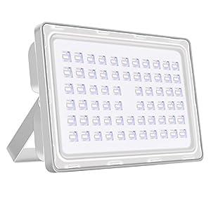 Viugreum® 200W LED Projecteur Extérieur Spotlight Lumière d'Inondation Ultra Lumineux – Imperméable IP65 Aluminium Mat [6F] – Blanc Froid (6000-6500K)