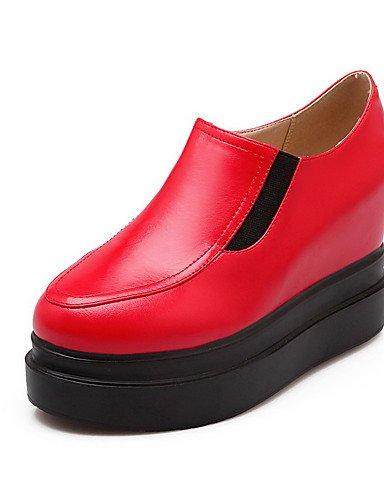 GGX/ Damen-High Heels-Lässig-Kunststoff-Keilabsatz-Creepers-Schwarz / Rot / Weiß black-us5.5 / eu36 / uk3.5 / cn35
