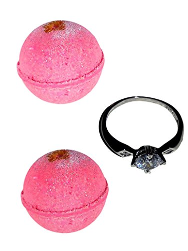 Bath Bombs with a Surprise Ring Inside -