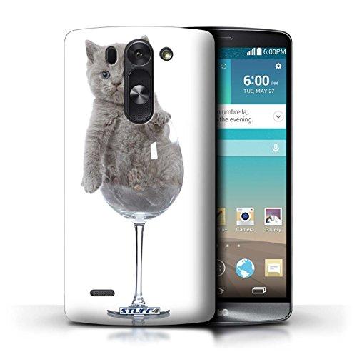 Kobalt® Imprimé Etui / Coque pour LG G3 S (Mini)/D722 / Verre de vin conception / Série Chatons mignons