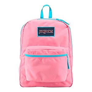 JanSport Women's Overexposed Pink Pansy/Mammoth Blue Backpack