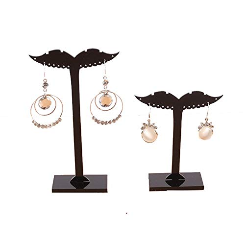 (AMDXD Jewelry Rack Holder Acrylic Beard 14 Holes Black Jewelry Storage Girls)