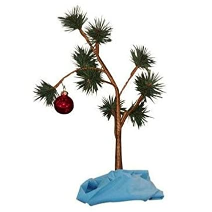 Amazoncom Charlie Brown Christmas Tree With Blanket 24 Tall Non