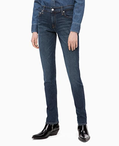 Calvin Klein womens CKJ 021 Mid Rise Slim Fit Jean, Hamptons blue dark, 26X30