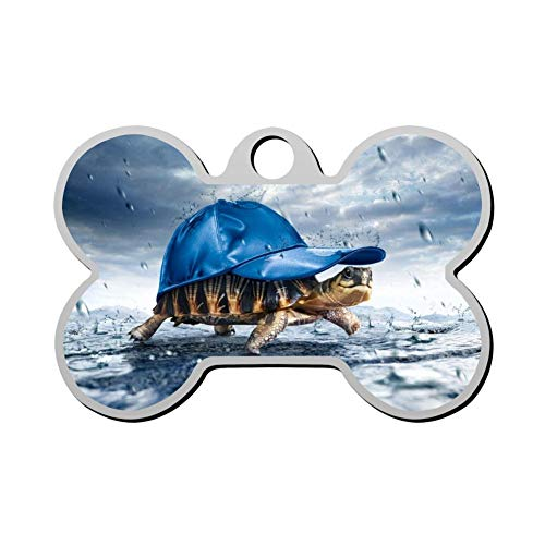 Pack Z55 (GcTck Personalized Double Sided Print Turtle Dog Tags Pet ID Tag,Customizable Information Pet Badge for Dogs Cats)