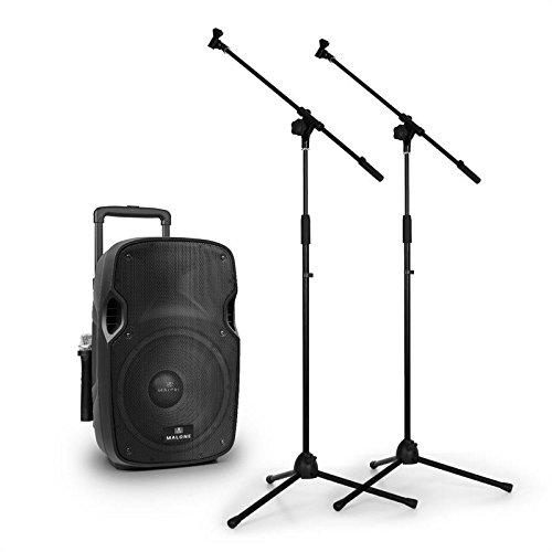 """3 opinioni per Malone PW-2912 sistema audio portatile trolley attivo 30cm (12"""") 350W con 2 aste"""