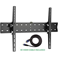 Jestik TV Wall Mount - Tilting TV Wall Mount, Wall Mount TV Bracket, TV Mounts For Flat Screens - Easy Mounting Solution - For Most 37 to 70 inch LED, LCD Flat Panel TVs, Plus 4K HDMI Cable (JM-K46)