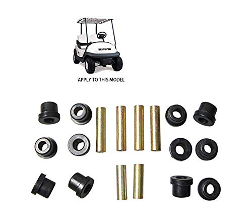Eye Shackle Bushing - 2 Set Rear Leaf Spring for Club Car Precedent Golf Cart,Bushing and Sleeve Kit 102506601 102506301 102506401