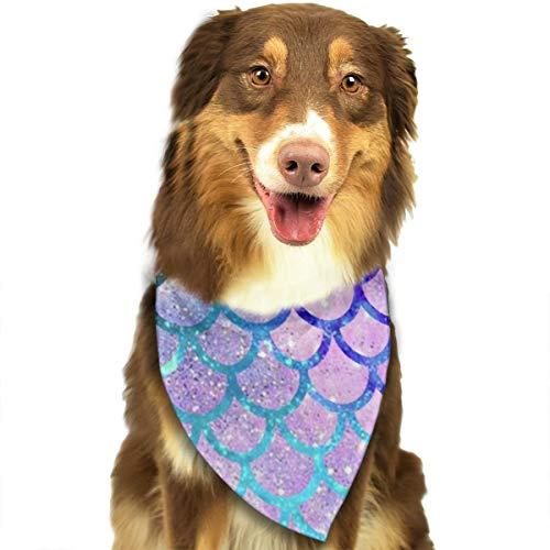 ZZJIAK Dog Bandana Scarf Mermaid Scales Fashion Galaxy Pattern Triangle Bibs Printing Kerchief Set Accessories Dogs Cats -